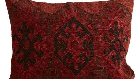 MADAM STOLTZ Povlak na polštář Spicy Tandoori 50x70 cm, červená barva, textil