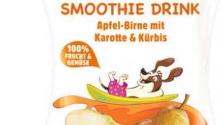 6x HIPP HiPPiS BIO Smoothie Jablko-Hruška-Mrkev-Dýně 120 ml – ovocný příkrm