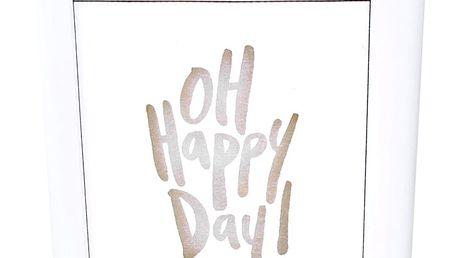 Love Inc. Bílá svíčka Happy Day - fíky a bílé pižmo, sklo, dřevo, vosk