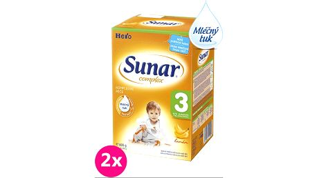 2x SUNAR Complex 3 BANÁN (600g) – kojenecké mléko