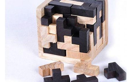 Dřevěný hlavolam kostka Ming
