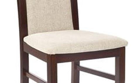 Citrone - Jídelní židle, buk (ořech tmavý/potah béžová)