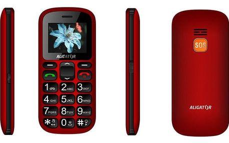 Aligator A321, červeno/černý + stolní nabíječka - A321RB