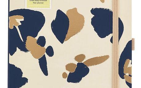 Busy B Diář 2018 Day a Page Fashion A5, modrá barva, zlatá barva, papír