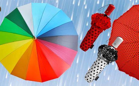 Krásné deštníky v mnoha barevných provedeních