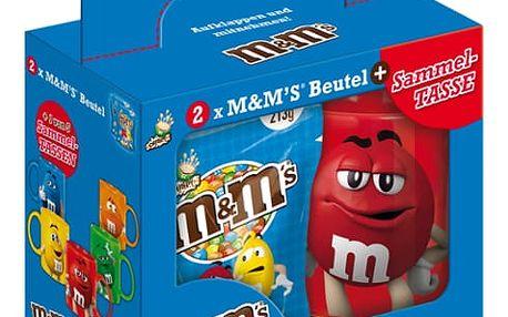 M&M's crispy dražé 2x213g + hrnek