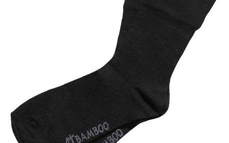 Ponožky Gino Bamboo Bezešvé Klasické Černé XL