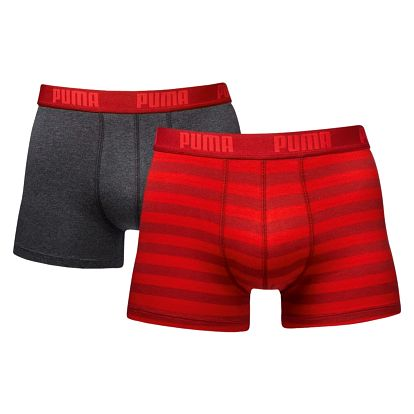 2PACK Pánské Boxerky Puma Striped Red Long L