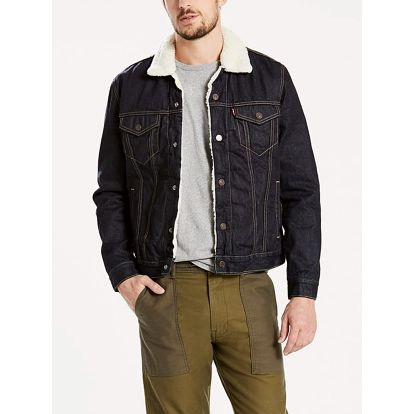 Bunda LEVI'S Type 3 Sherpa Trucker Raw Power Sherpa Černá