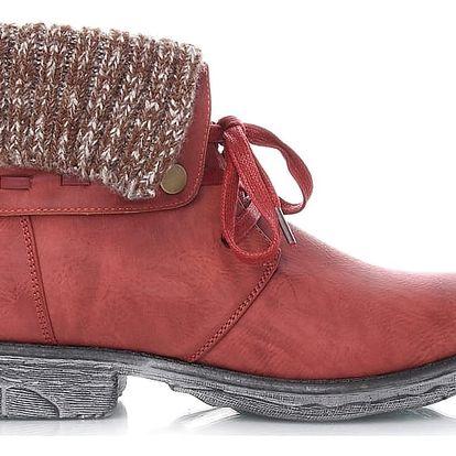 Červené kotníkové boty 2079R 38