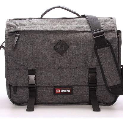Látková pánská taška přes rameno šedá - Enrico Benetti 4548 šedá