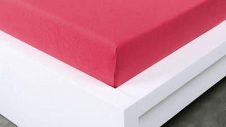 XPOSE ® Jersey prostěradlo Exclusive dvoulůžko - malinová 180x200 cm