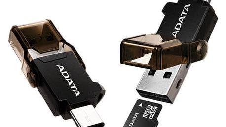 Čtečka paměťových karet A-Data s duálním konektorem (USB-C + USB 3.1) (ACMR3PL-OTG-RBK) černá