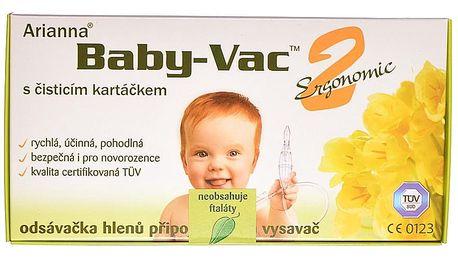 Baby-Vac 2 Ergonomic Arianna odsávačka s čisticím kartáčkem