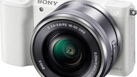 Sony Alpha 5100 + 16-50mm, bílá - ILCE5100LW.CEC