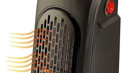 Teplovzdušný ventilátor Rovus Handy heater černý + Doprava zdarma