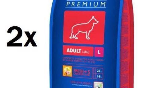 Granule Brit Premium Dog Adult L 2 x 15 kg + Doprava zdarma