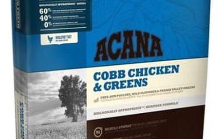 Granule Acana Dog Cobb Chicken&Greens Heritage 17 kg + Doprava zdarma