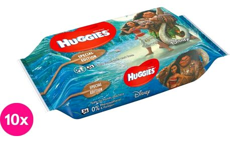 10x HUGGIES® N'Care Disney Moana, 56ks – vlhčené ubrousky