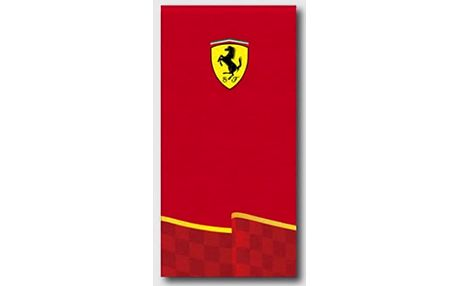 Halantex Osuška Ferrari Logo červená bavlna-froté 75/150 cm
