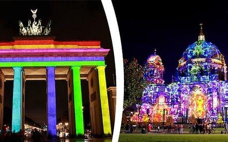 Berlín - Festival světel. Užijte si okouzlující zážitek v německém hlavním městě. Ohromí vás světelná show a vystoupení místních i mezinárodních umělců v celém městě. Nasvícené budou zejména světově známé kulturní památky, historické budovy včetně Branden