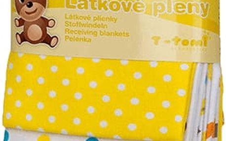T-TOMI Látkové pleny, 76 x 76 cm, sada 4 ks, žluté žirafy