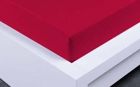 XPOSE ® Bambusové jersey prostěradlo dvoulůžko - vínová 180x200 cm