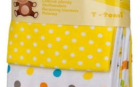 T-tomi Látkové pleny, sada 4 ks, žluté žirafy