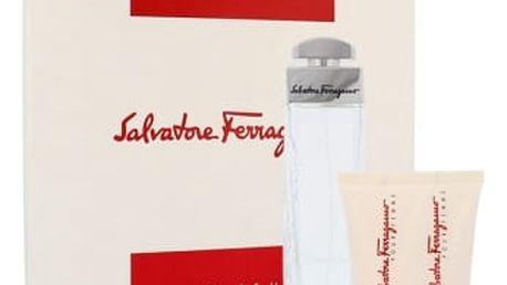 Salvatore Ferragamo Pour Femme dárková kazeta pro ženy parfémovaná voda 100 ml + tělové mléko 50 ml + sprchový gel 50 ml