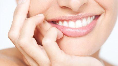 Bělení zubů neperoxidovým gelem pomocí LED lampy