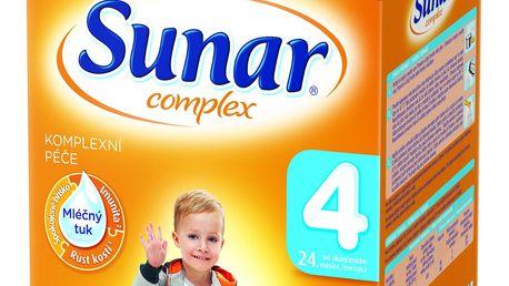 3x SUNAR Complex 4 JAHODA (600 g) – kojenecké mléko