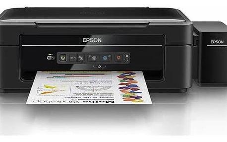 Tiskárna multifunkční Epson L386 (C11CF44401) černá Inkoustová náplň Epson T6644, 70ml originální - žlutý (zdarma)Inkoustová náplň Epson T6643, 70ml originální - červený (zdarma)Inkoustová náplň Epson T6642, 70ml originální - modrý (zdarma) + Doprava zdar