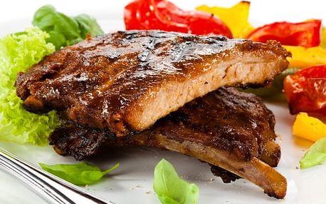 Vepřové a kuřecí menu s přílohami pro 4-6 osob