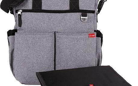 SKIP HOP Přebalovací taška s podložkou Duo Signature - šedá