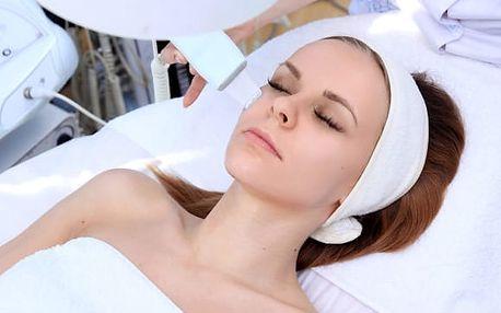 Čištění pleti ultrazvukovou špachtlí či kosmetický balíček