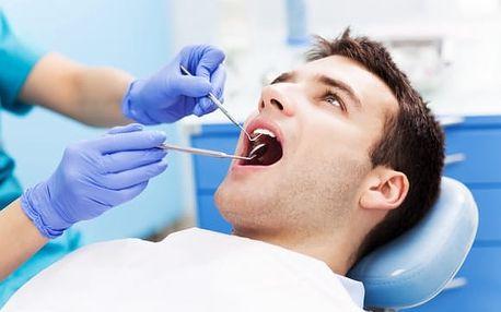 Dentální hygiena + instruktáž, fluoridace a možnost air flow