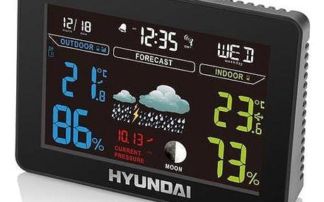 Meteorologická stanice Hyundai WS 8230 černá + Doprava zdarma