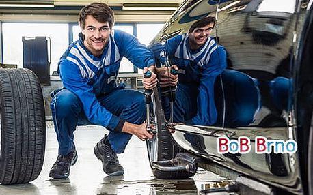 Přezutí pneumatik či výměna celých kol vozu včetně vyvážení