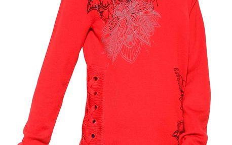 Desigual červený svetr Abraham