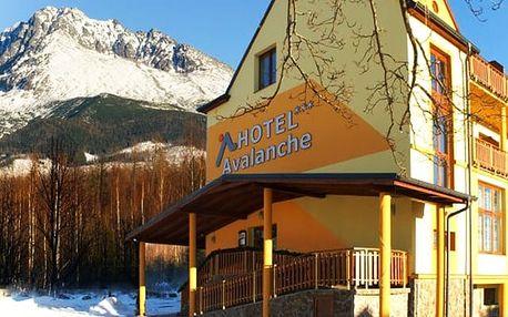 Hotel Avalanche***, 3* komfort s polopenzí a wellness pod vrcholky Tater