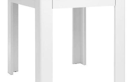 Jídelní stůl OSLO beton/bílá