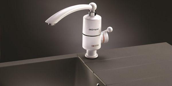Baterie vodovodní Delimano s ohřevem vody bílý4