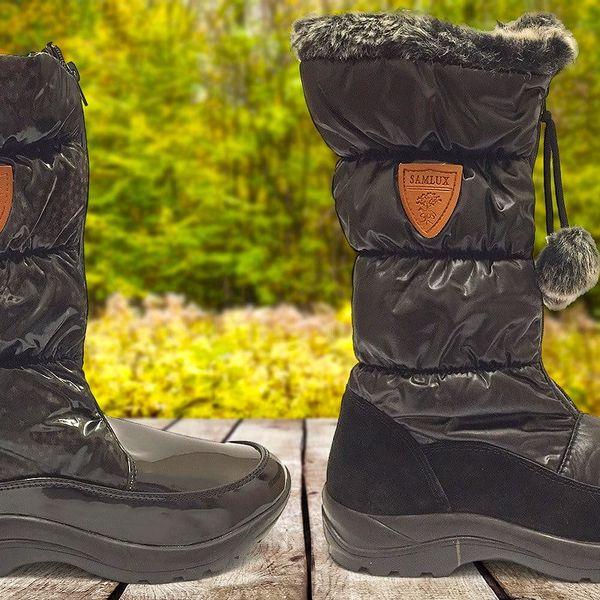 Dámské zateplené boty Samlux s kožešinkou