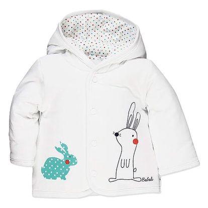 BOBOLI Oboustranný kabátek, vel. 74 cm - bílá, Unisex