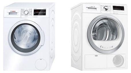Set (Sušička prádla Bosch WTH85290BY) + (Automatická pračka Bosch WAT24460BY)