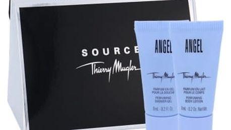 Thierry Mugler Angel dárková kazeta pro ženy tělové mléko 8 ml + sprchový gel 8 ml