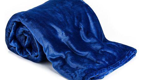 Jahu Deka XXL / Přehoz na postel modrá, 200 x 220 cm