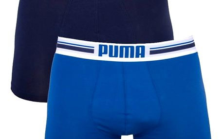 2PACK Pánské Boxerky Puma Blue Long S