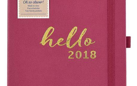 Busy B Rodinný plánovací diář 2018 Contemporary A5, růžová barva, papír