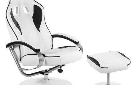 RACEMASTER® 32245 Kancelářská židle GT RELAX RACER - bílá/černá